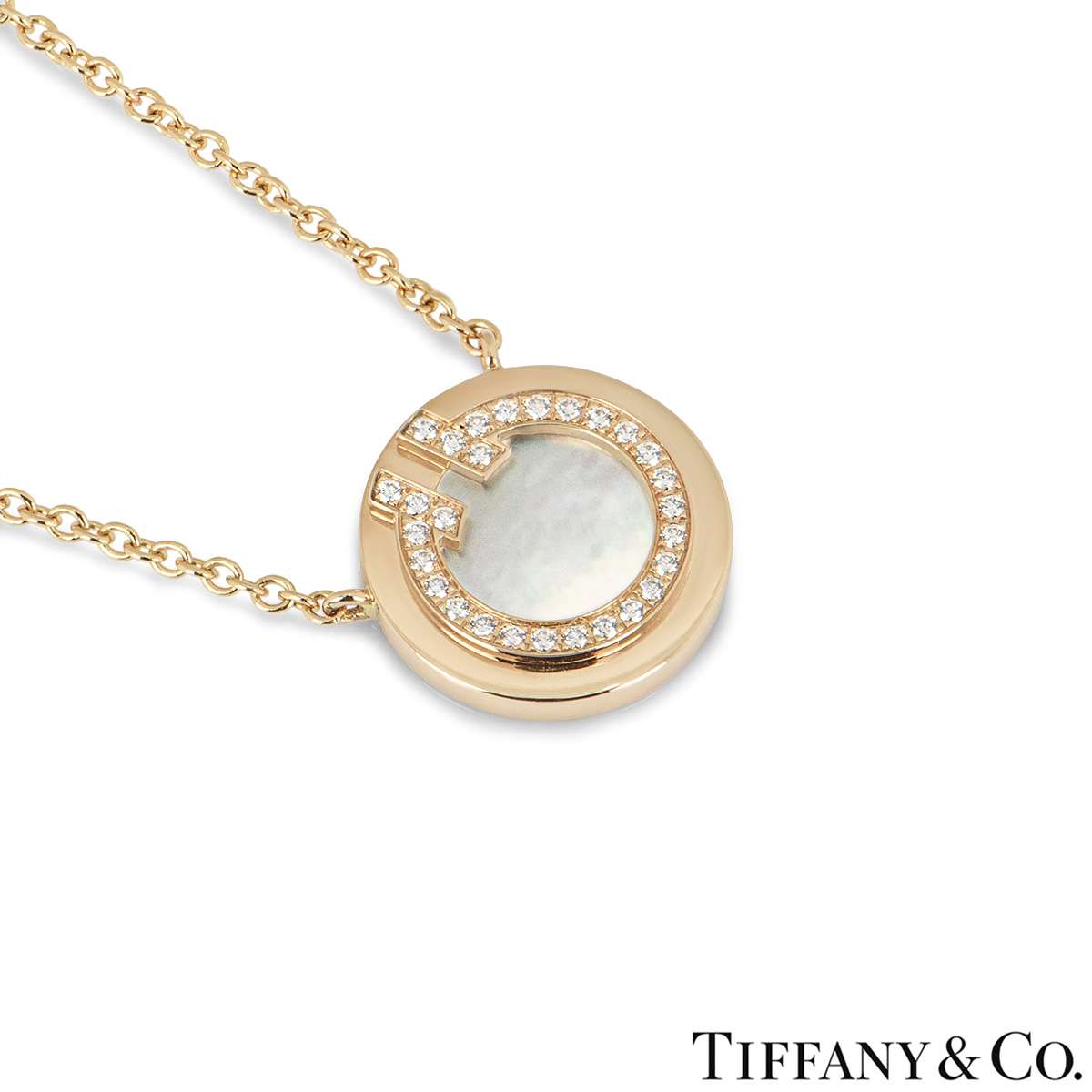 Tiffany & Co. Diamond Circle Tiffany T Pendant